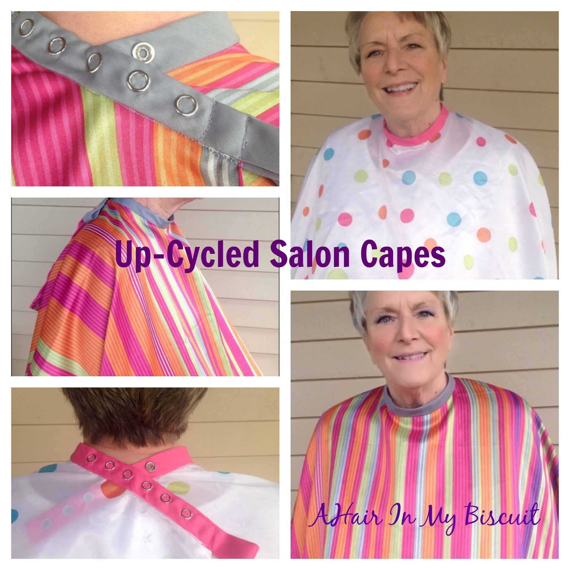 up-cycled salon capes