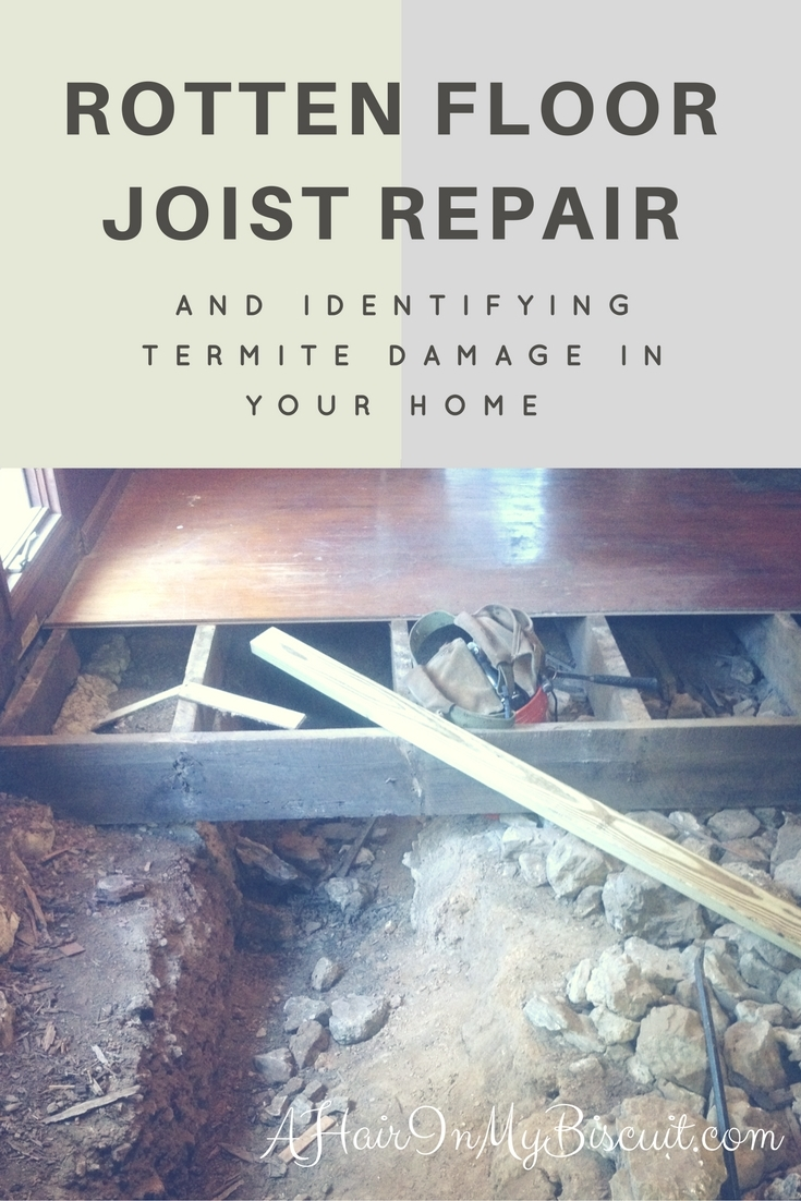rotten floor joist repair